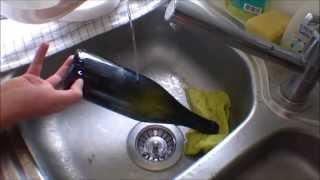 Wine Bottle cutting for DIY Window Garden - 070