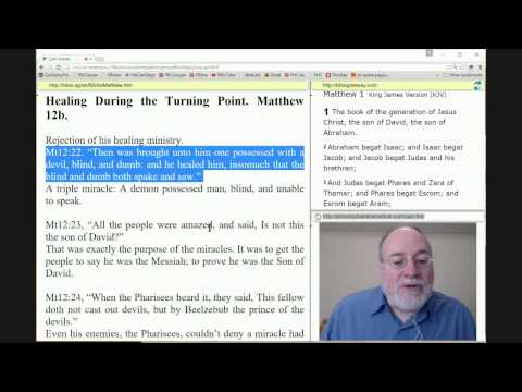 Survey of the Gospel of Matthew: The Change in Yeshua's Ministry