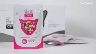 Влажный корм Brit Care для кошек с курицей и уткой