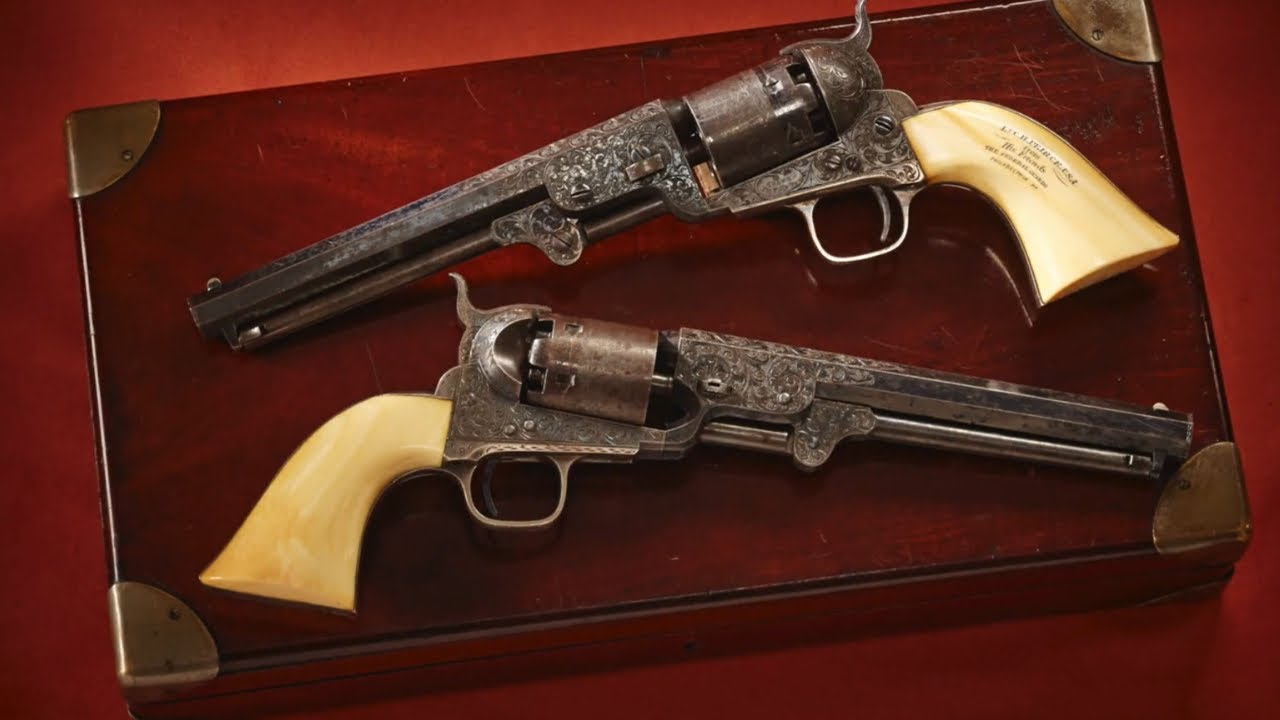 Cased Presentation Set of Colt 1851 Revolvers