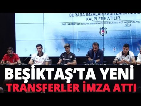 Beşiktaş'ın Yeni Transferleri Dorukhan Toköz, Güven Yalçın, Umut Nayir ve Enzo Roco İmza Attı