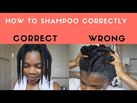 How To Shampoo Correctly in Twists on Natural 4c Hair
