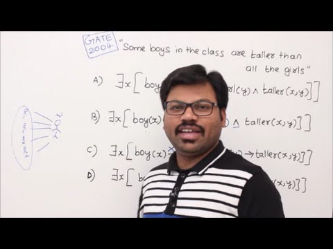 DM-19-First Order Logic - GATE PROBLEMS ON CONVERTING INTO FIRST ORDER