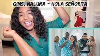 GIMS, Maluma - Hola Señorita (Maria) [Official Video]   REACTION