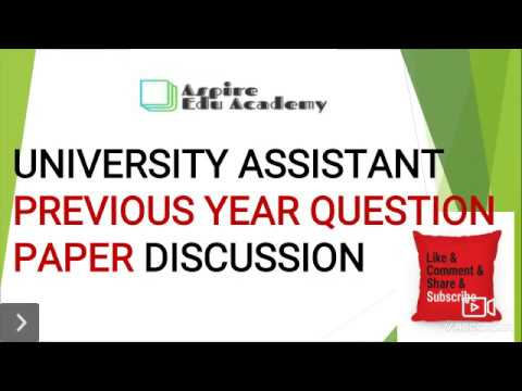 University Assistant Previous Year Question Paper Discussion in Malayalam  Part 1 || Kerala PSC