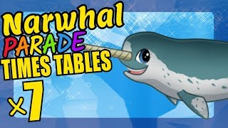 Narwhal Teaching Multiplication Times Tables x7 Educational Math Video for Kids