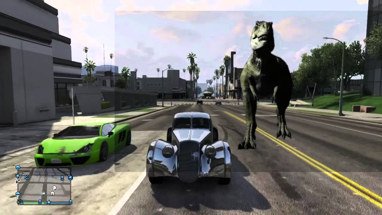 gta 5 dinosaur attack youtube. Black Bedroom Furniture Sets. Home Design Ideas