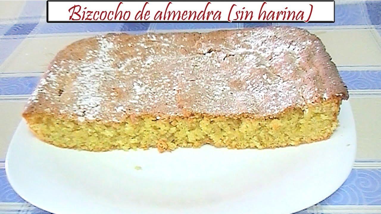 Bizcocho de almendra sin harina receta de cocina en for Bizcocho de yogur y almendra