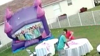 Watch Neighbor Unplug Bounce House That Deflated on 12 Kids at Birthday Party