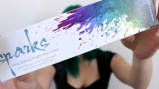 "Review Part Deux: Sparks ""Green Envy"" Long Lasting Hair Dye"
