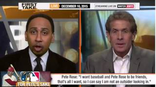ESPN First Take   Pete Rose Reacts to Lifetime Ban Being Upheld