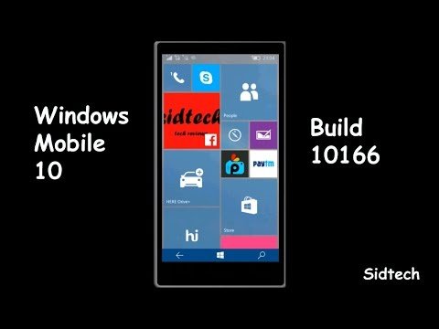 Windows 10 Mobile Update 6 Build 10166 On Lumia 630