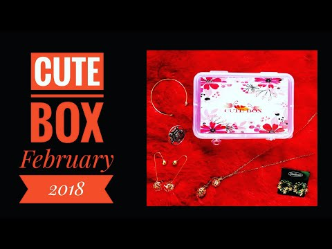 Cute Box @ ₹379 - February 2018 - Love is in the air Edition - Personalized - Unboxing and Review - 동영상