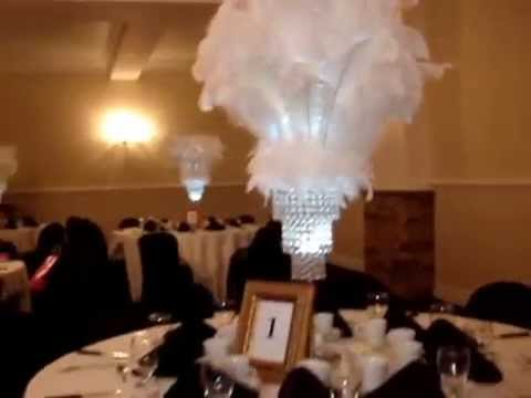 Great Gatsby Themed Centerpieces at the Mansion on Broadway White Plains NY