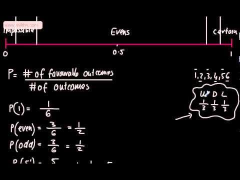 GCSE Maths - Probability 1 (Basic Introduction, words, number line) Foundation Higher