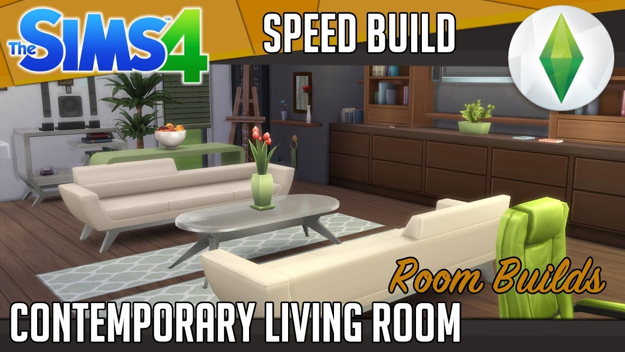 The sims 4 room build contemporary living room youtube New build living room designs