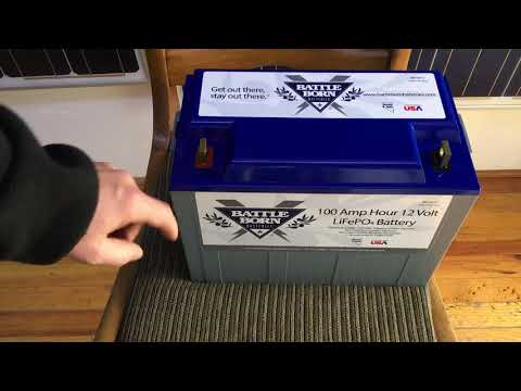 Unboxing the Battle Born, 100AH, 12V Lithium Battery for our Off Grid Showroom in Portland.