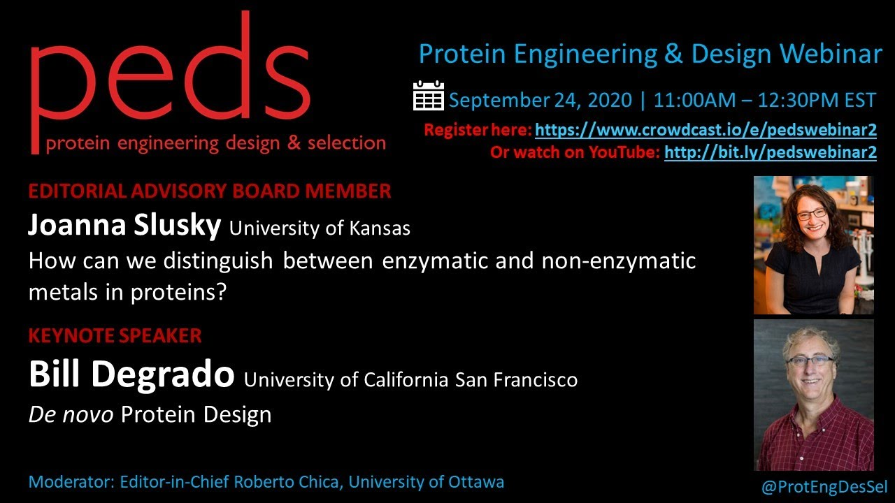Join our PEDS Protein Engineering and Design Webinar