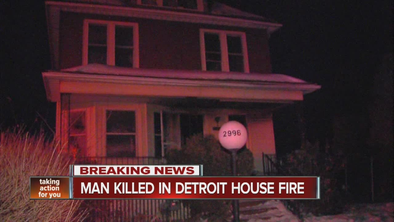 Man Killed In Detroit House Fire Youtube