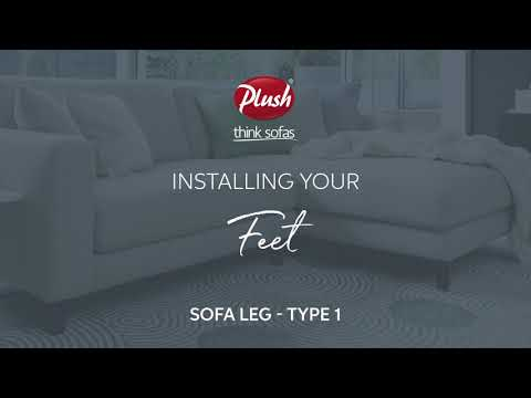 How To Install Sofa Legs Type 1 You, How To Install Feet On Furniture