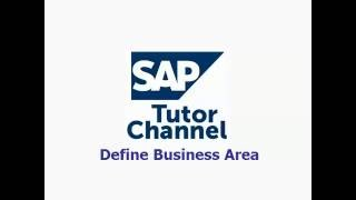 How to Define Business Area in SAP