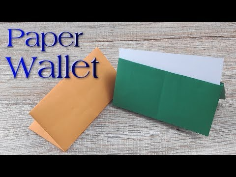 DIY Paper Wallet | How to make A Simple paper wallet | Easy Origami Wallet Purse Tutorial