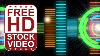 Stock Videos – VJ-Loops der DJ-Musik-equalizer bunten animierten 3D-motion-graphics