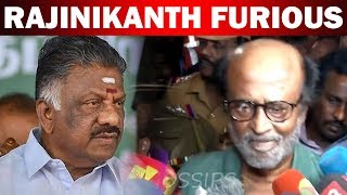 Rajinikanth furious speech