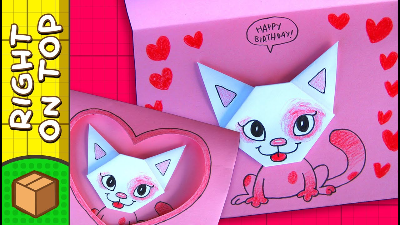DIY Valentine's Day Card - Cat Hearts | Crafts Ideas For ... - photo#26