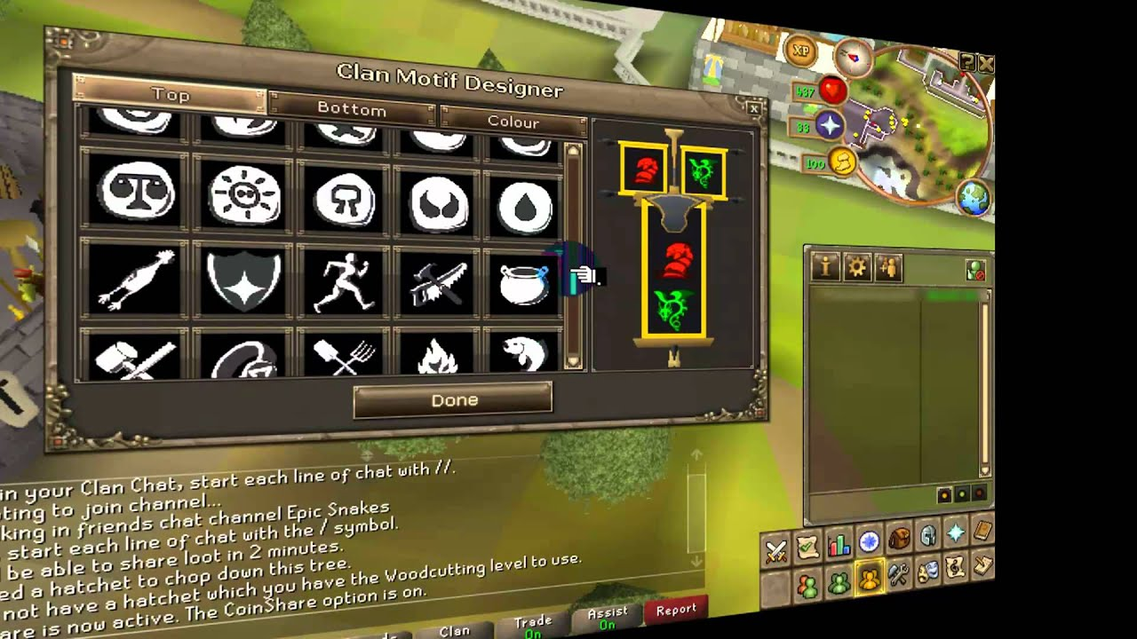 How To Change Your Clan Emblem On Runescape Youtube