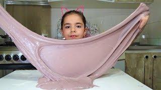 огромный Слайм ЛИЗУН с Детским кремом! Как Сделать DIY SLIME