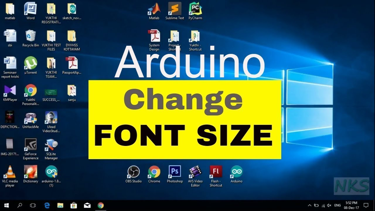 How to Change Font Size in Arduino IDE - YouTube