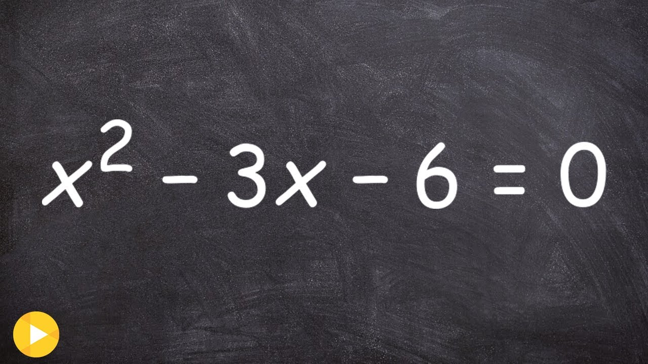 Algebra 2  How Toplete The Square With Fractions Then Solve The  Equation X^23x6=0