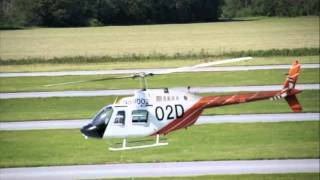U.S. Army - Helicopter Training - TH67 Creek / Bell Jetranger Touchdown Autorotations