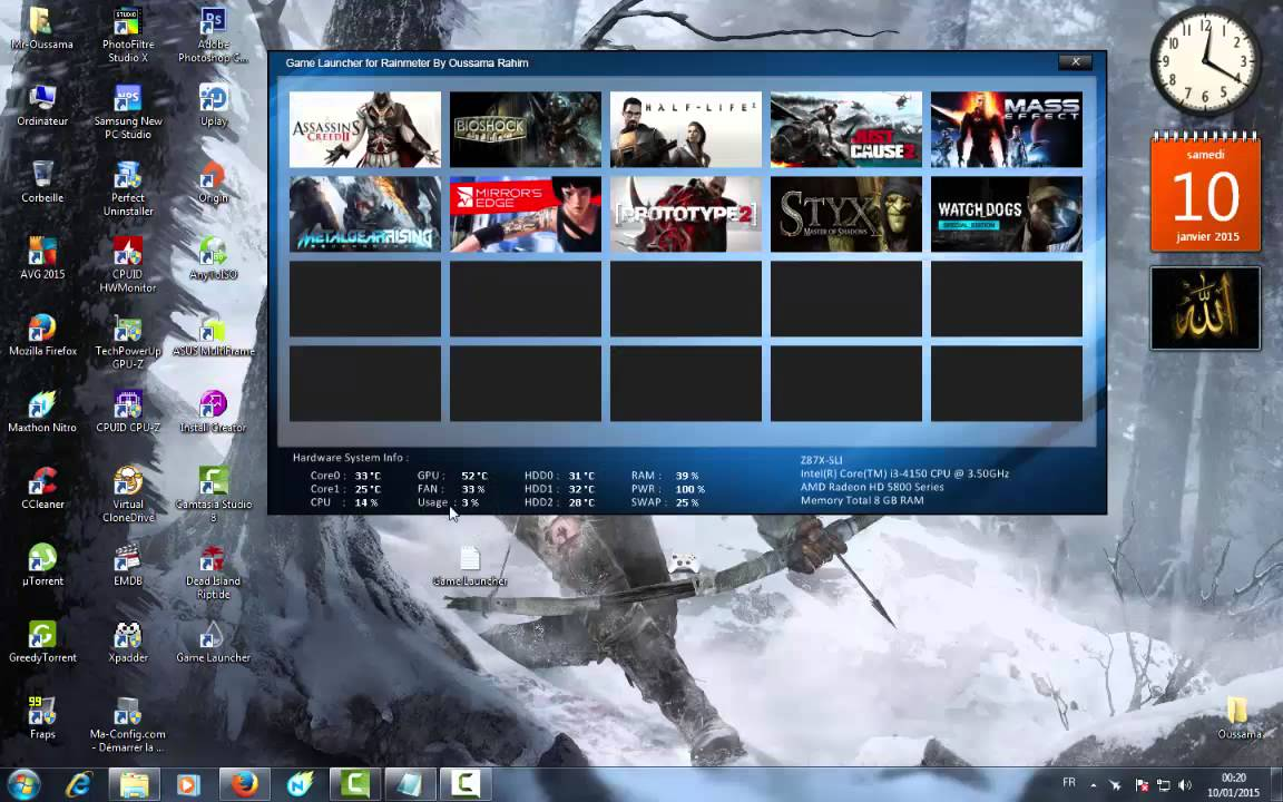 Game Launcher 1.0 By Oussama Rahim - YouTube