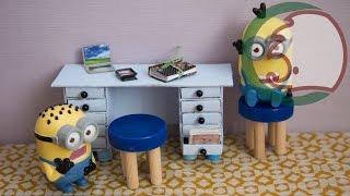 Как сделать стол для кукол. How to make a desk for dolls.(Как сделать письменный стол для кукол. Самоделушки научат вас легко и просто сделать стол из коробков. How..., 2014-02-20T21:03:59.000Z)