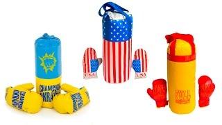 детский боксерский набор с перчатками, производство Украина