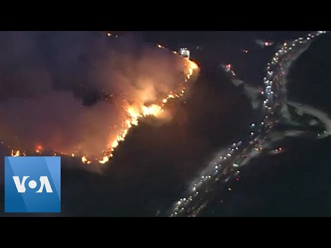 Wildfire In Los Angeles Forces Massive Evacuations