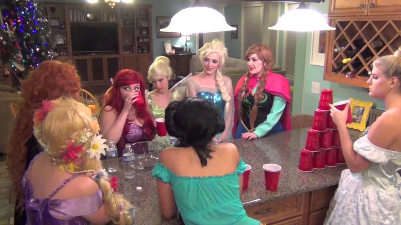 Disney Princesses Get TURNT UP: Bloopers - YouTube