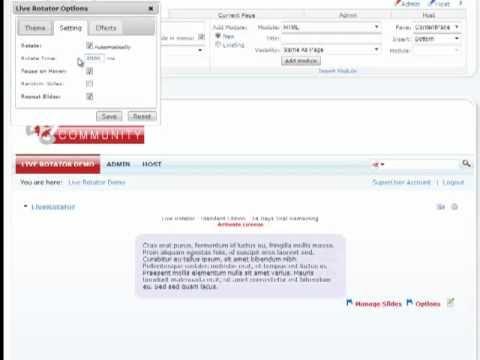 Live Rotator - Working w/HTML Content | DotNetNuke Module | Mandeeps.com