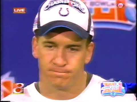 2007 - Colts QB Peyton Manning After Super Bowl Victory