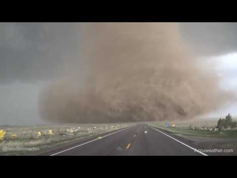 Extreme up close video of tornado near Wray, CO