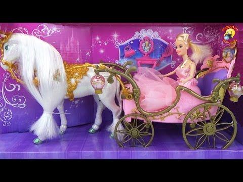 Карета с лошадью для Золушки / Carriage with horses for Cinderella
