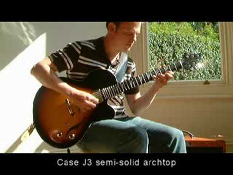 Phil Robson plays the Case J3 guitar