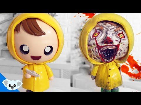 CUTE AND SCARY IT Pennywise and Georgie Cake It Chapter 2 | Scary Halloween Cake Ideas | party Ideas