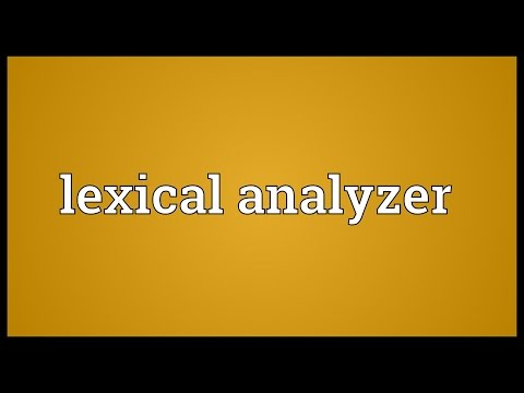 Lexical analyzer Meaning