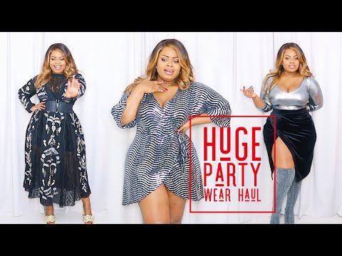 My Huge Combination Plus Size Party Wear Try On Haul | Edee Beau