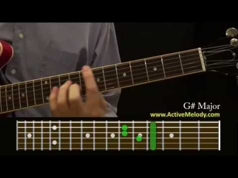 How To Play A G Sharp Chord On The Guitar Youtube