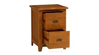 Rustic Oak 2 Drawer Filing Cabinet - PineSolutions