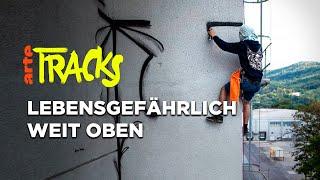 Abseilen und Train Surfing: die Graffiti-Aktionen von Ikarus   Arte TRACKS